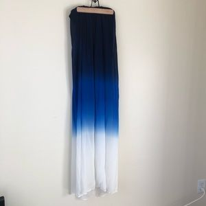 [young fabulous broke] blue white ombré maxi dress
